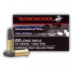 Municion Winchester .22 LR Subsonic 40 HP