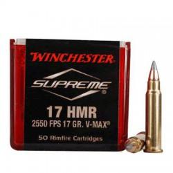 Municion Winchester .17 HMR 17 Supreme