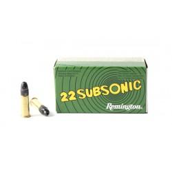 Munición Remington .22 LR Subsonic 50 und