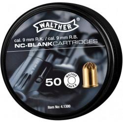 Munición Walther Fogueo 9 mm R.K Revolver 50 unid