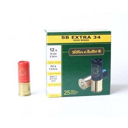 Cartucho Sellier&Bellot 12 Extra 34 gr 6