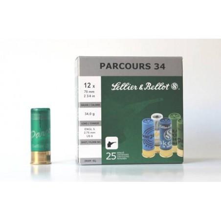 Cartucho Sellier&Bellot 12 Parcours 34 gr 6