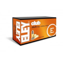 Munición Eley .22 LR Club 40 LRN