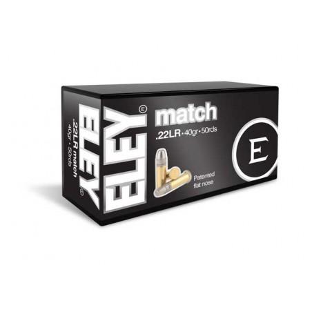 Munición Eley .22 LR Match 40 FN