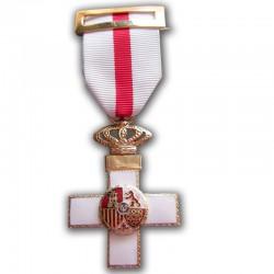 Medalla Cruz Mérito Militar Distintivo Blanco
