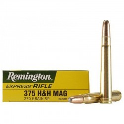 Munición Remington 375 H&H Mag