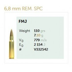 Munición Sellier&Bellot 6.8 SPC 110 FMJ