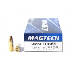 Munición Magtech 9 Pb 115 gr FMJ