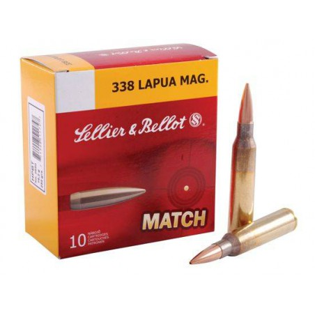 Munición Sellier&Bellot .338 Lapua Mag 250 HPBT
