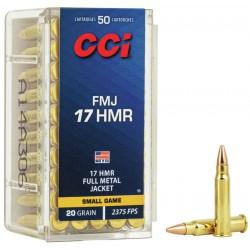 Munición CCI .17 HMR 20 gr FMJ