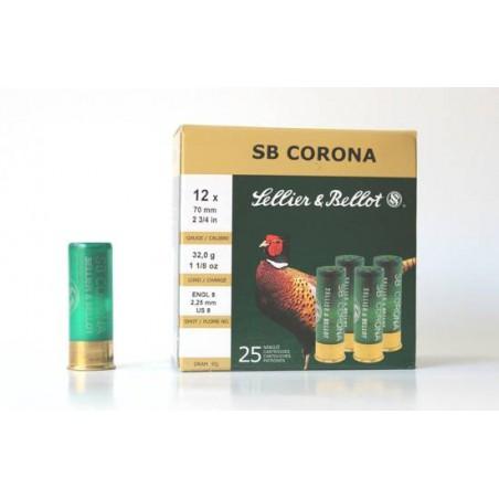 Cartucho Sellier&Bellot 12 Corona 32 gr 8