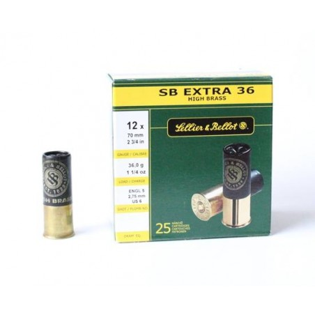 Cartucho Sellier&Bellot 12 Extra 36 gr 6
