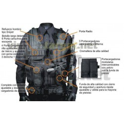 Chaleco Leapers Law Enforcement Tactical Negro LH